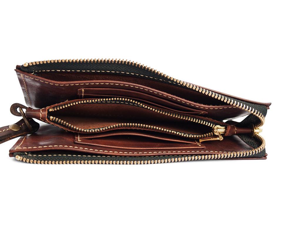 Кожаный кошелек ручной работы 43