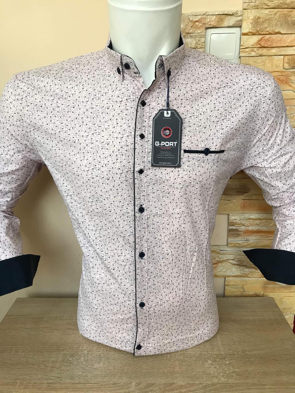 Батальна сорочка з довгим рукавом G-port з принтом - 890