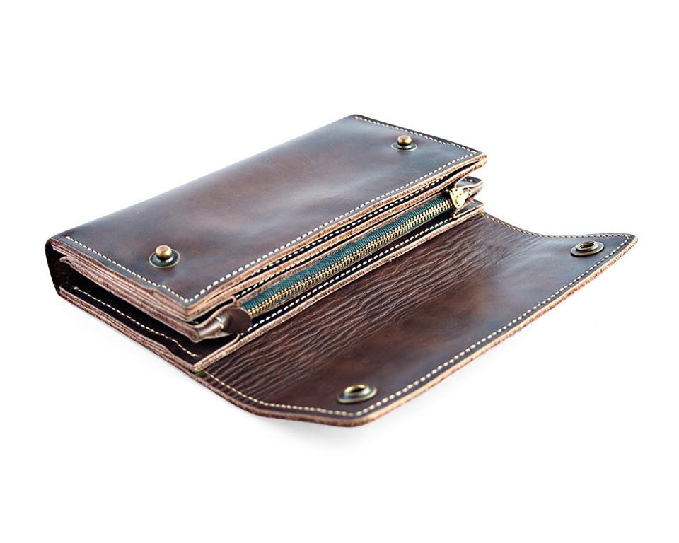 Кожаный кошелек ручной работы 45