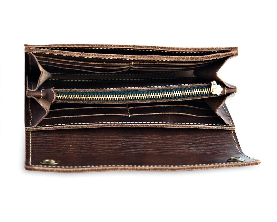 Кожаный кошелек ручной работы 46