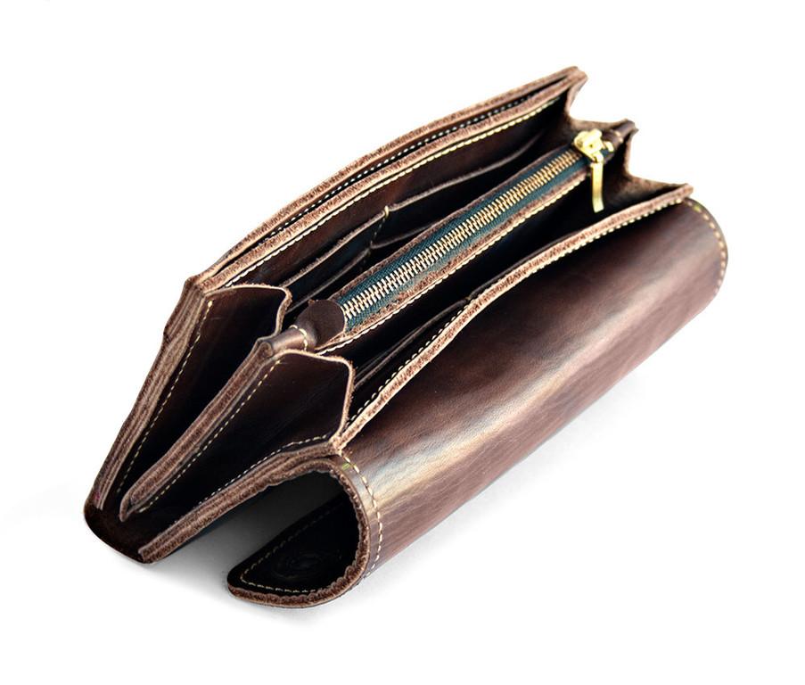 Кожаный кошелек ручной работы 47