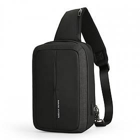 Рюкзак з одного лямкою Mark Ryden MiniCase MR7011 BlackUSB