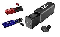 Беспроводные вакуумные блютуз наушники с зарядным кейсом JBL Tune 290