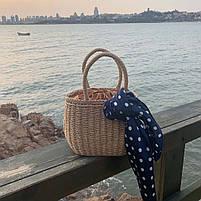 Модная плетеная женская сумка, фото 6