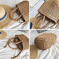 Модная плетеная женская сумка, фото 3