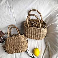 Модная плетеная женская сумка, фото 4