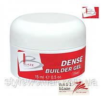 Гель Blaze Dense Builder Gel Clear, 15 мл прозрачный