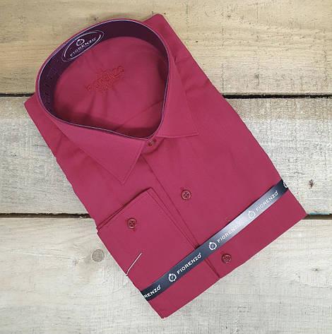 Чоловіча приталена однотона сорочка Fiorenzo, фото 2