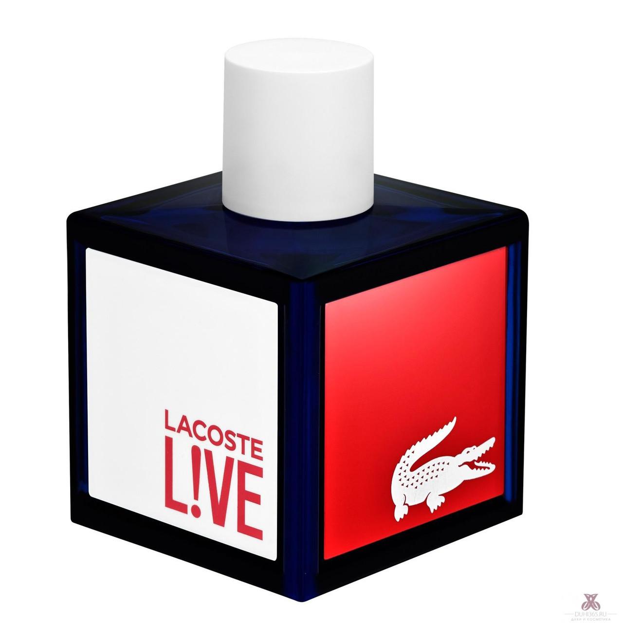 Lacoste Live Pour Homme туалетная вода 100 ml. (Тестер Лакост Лайв Пур Хом)