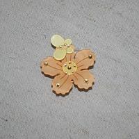 Магнитные подхваты весна, св. терракот/желтый