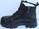 Ботинки женские на байке кожаные от производителя модель МВ303, фото 7