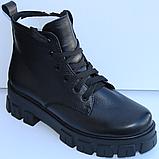 Ботинки женские на байке кожаные от производителя модель МВ303, фото 4