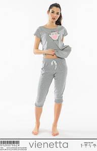 Домашний костюм с бриджами и футболкой Сова 42-48 р
