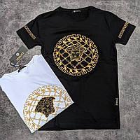 Мужская брендовая футболка VERSACE Люкс качество