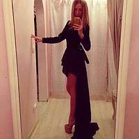 Платье перед короткий,спинка длинная