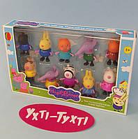 Игровой набор Семья Свинка Пеппа, набор фигурок Пеппа 605-10
