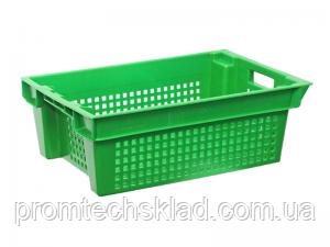 Пластиковий ящик 600х400х200 білий перфорований
