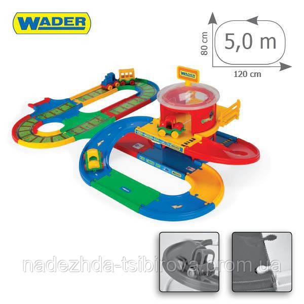 Игровой набор Wader - Kid Cars 3D ж/д вокзал с  трассой 5,5 м. для машинок.  - Оптово-розничный интернет магазин детских товаров МагазинЧИК в Днепре