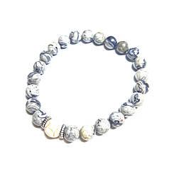 ТУМАН, яшма. Мужской браслет из натурального камня.