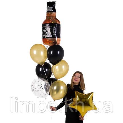 Кульки на день народження чоловіка з фольгированной фігурою Віскі, фото 2