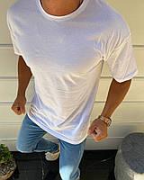 Белая мужская футболка S M L XL OVERSIZE Футболка Турция