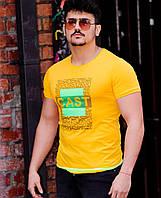 Футболка мужская с принтом желтая S M L XL Футболка Турция