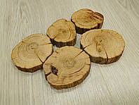 Срез дерева (5 шт)  (4-6 см) дуб без коры