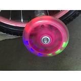 Велосипед 881 розовый, принцессы, колеса16 с корзинкой, вспомогательные колеса, детский, прогулочный, фото 4