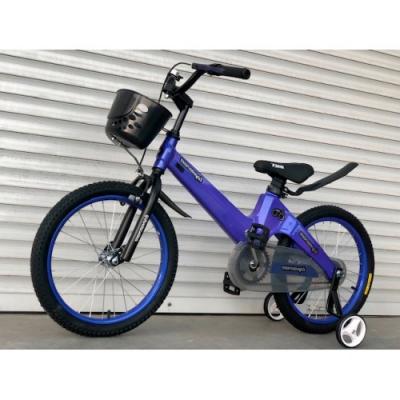 Магниевый детский велосипед ТТ-001, синий, с корзинкой, TopRider, колеса 18