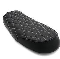 Мото сиденье на байк, кастом, седло Bobber Seat  ZD007 + крепления, черная , полоска