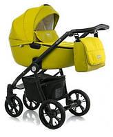 Желтая детская коляска универсальная для новорожденных 2 в 1 Классическая коляска-люлька