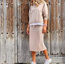 Женский повседневный костюм с юбкой . Размер 42- 44, 46-48, 50-52