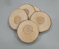 Набір дерев'яних спилов дерева, шліфований 6-8 див. (5шт) Осика