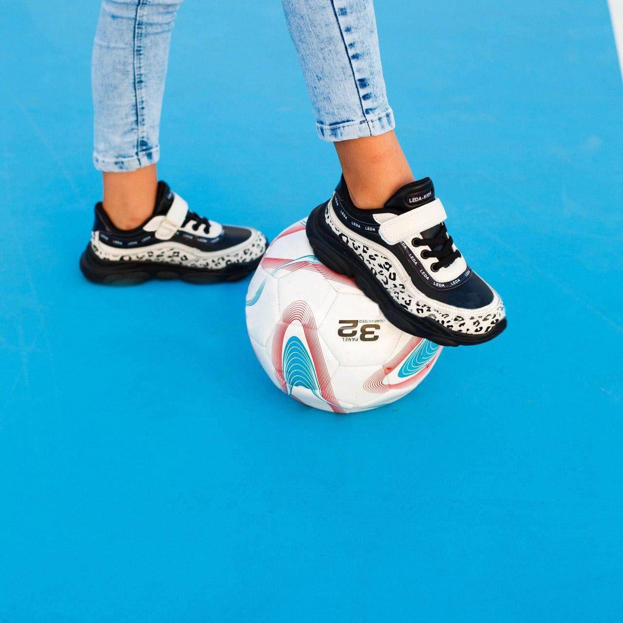Підліткові білі кросівки на липучках