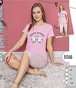 Пижама женская комплект футболка и бриджи хлопок 100 % № 50166