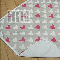 Двухсторонняя впитывающая детская 80*60 влагонепроницаемая махровая пеленка для новорожденных 4242 Малиновіый