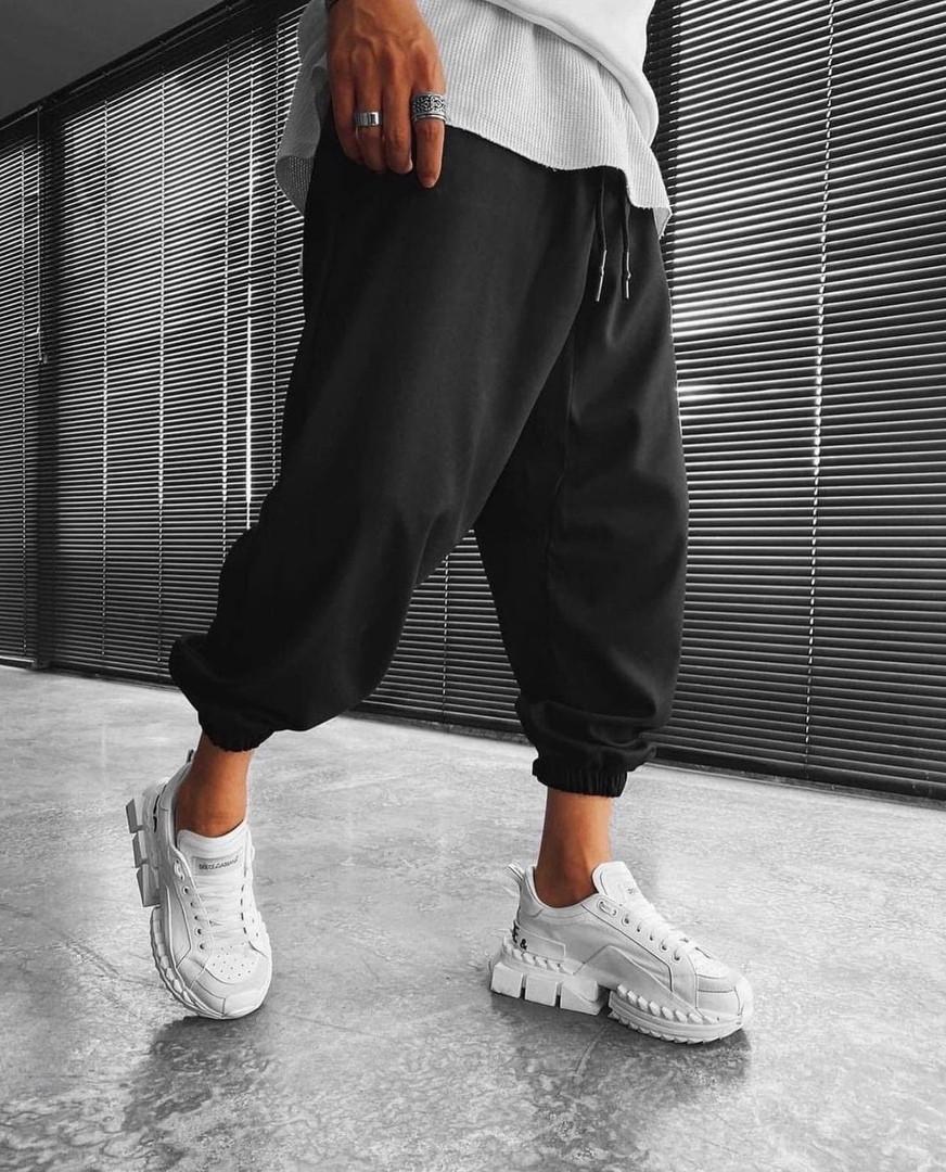 Мужские штаны, турецкая двунить, р-р S (44-46);  M (48-50); L (52-54) (чёрный)