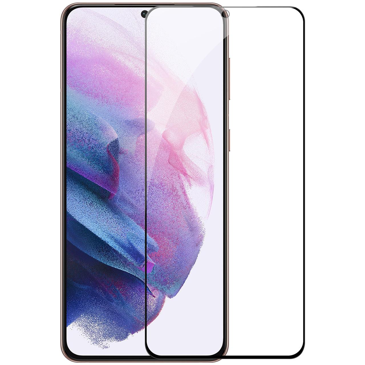 Захисне скло Nillkin для Samsung Galaxy S21 (CP + PRO) Tempered Glass Black з олеофобним покриттям