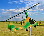 Садовый флюгер ветряк Автожир (Вертолет), фото 8