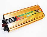 Инвертор преобразователь напряжения 2000W 24V в 220V AC/DC, фото 2