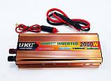 Инвертор преобразователь напряжения 2000W 24V в 220V AC/DC, фото 5