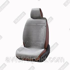 Накидки на автомобильные сидения Elegant Maxi NAPOLI серый перед