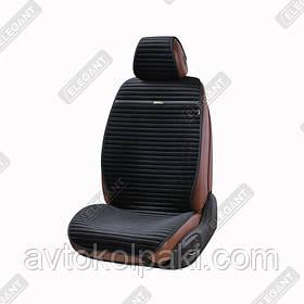 Накидки на автомобильные сидения Elegant Maxi NAPOLI черные перед