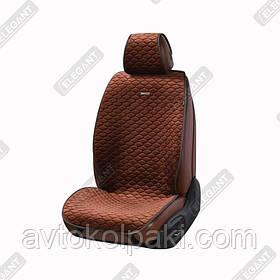 Накидки на автомобильные сидения Elegant Maxi PALERMO коричневые перед