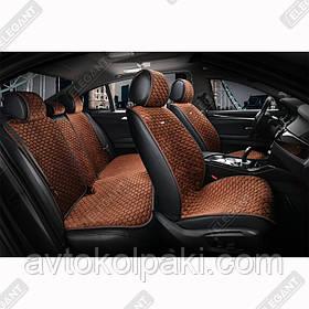 Накидки на автомобильные сидения Elegant Maxi PALERMO коричневые комплект