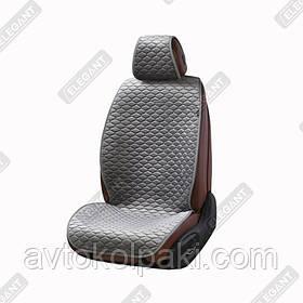Накидки на автомобильные сидения Elegant Maxi PALERMO серые перед