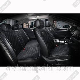 Накидки на автомобильные сидения Elegant Maxi PALERMO черные комплект