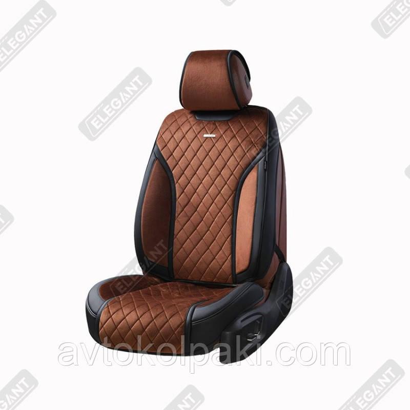 Чехлы 3D на автомобильные сидения Elegant TORINO Maxi темно-коричневые комплект