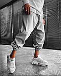 Чоловічі штани, турецька двунить, р-р S (44-46); M (48-50); L (52-54) (меланж), фото 2