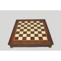 Nigri Scacchi - Шахматное поле-бокс с местом для укладки шахмат (коричневая доска) Box marrone - доска 33x33x4 см (CD33G) ( EDP58644 )